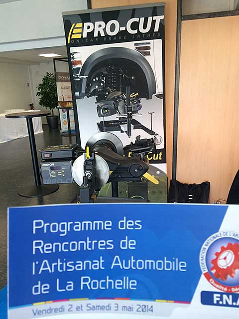 Pro cut pro cut exhibiting at french auto workshop for Garage peugeot la rochelle
