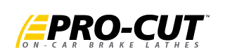 Pro-Cut On-car Brake Lathes