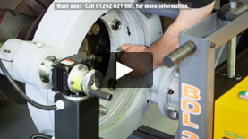 CV3000 on-truck brake lathe demonstration